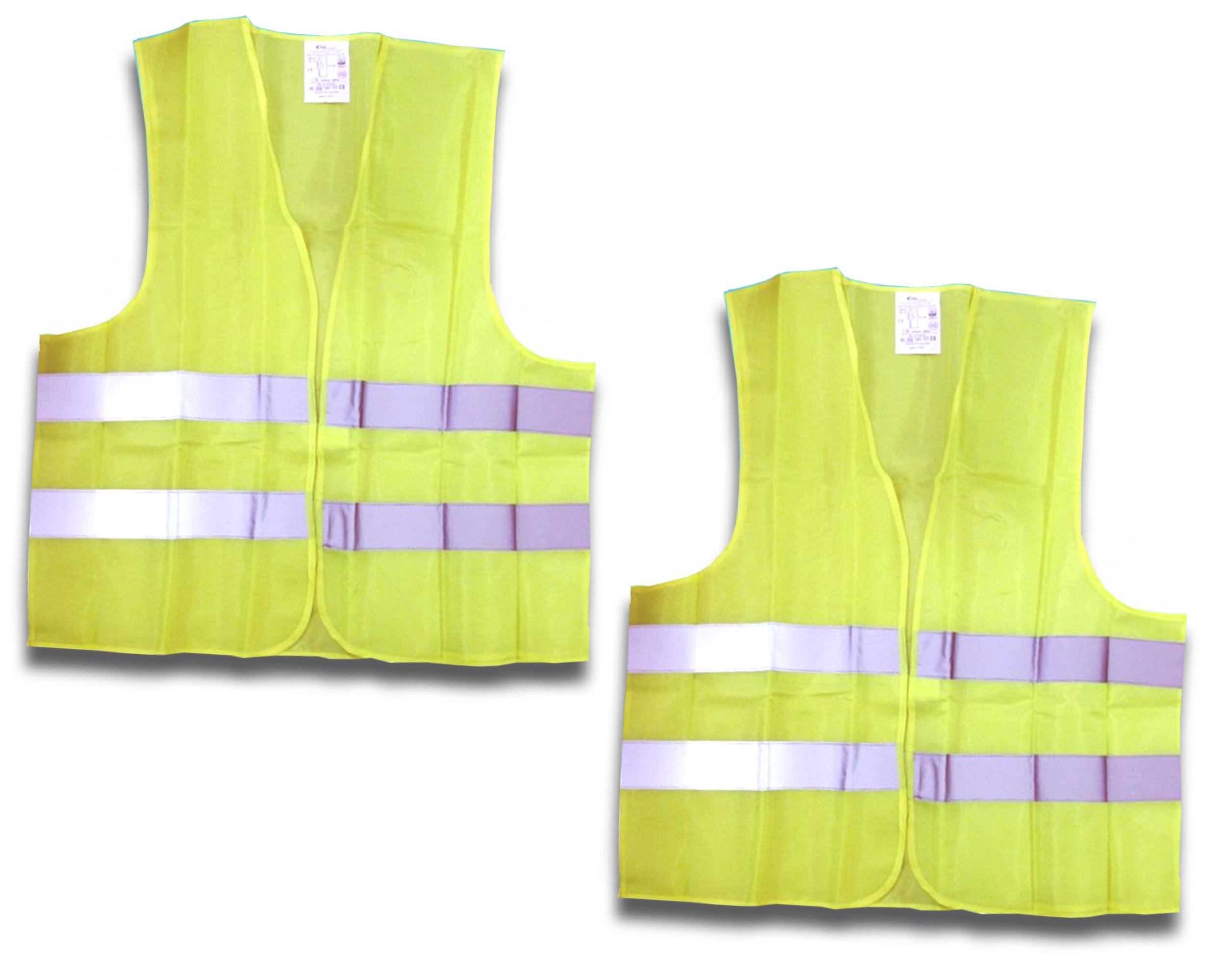 20 Warnwesten gelb XXL Pannen Unfallweste EN ISO20471:2013 Sicherheitsweste Auto